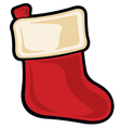 christmas gift stocking icon vector image