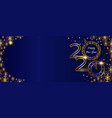 christmas golden banner 2020 happy new year vector image