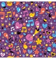 colorful party fun pattern vector image vector image