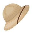 cork hat from the sunafrican safari single icon vector image vector image