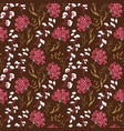 cute floral pattern in the small flower motifs vector image vector image