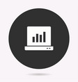 data analysis - icon isolated vector image vector image