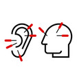 ear and head acupuncture vector image vector image