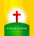 easter sunday calvary card vector image vector image