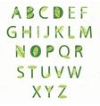 eco alphabet vector image vector image