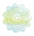 Elegant lacy watercolor doily Crochet mandala vector image vector image