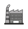 factory building isolated icon vector image vector image