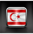 flag button of Turkish Republic of North Cyprus vector image