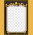 frame postcard cover gold baroque rococo