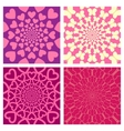 Geometric Background Set Heart Butterfly vector image vector image