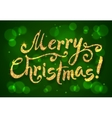 Golden glitter paint hand drawn Merry Christmas vector image vector image