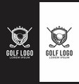 golf emblems insignia graphic sport tournament vector image