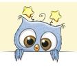 Greeting card cute Owl boy vector image vector image