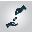Hands Giving and Receiving Money vector image vector image