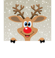 happy red nosed reindeer vector image