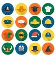 Hat Flat Icons vector image vector image