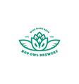 hop owl logo vector image