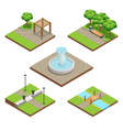 Isometric Landscaping Composition vector image vector image
