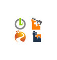 it technology transfer set vector image vector image