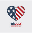 july fourth logo independence day design vector image vector image