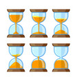 key frames hourglasses isolate on white vector image vector image