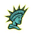 lady liberty or libertas mascot vector image vector image