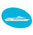 large cruise passenger liner on white background vector image