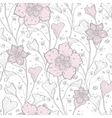 magical lace flowers seamless pattern vector image