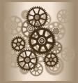 mechanism with gears vector image vector image
