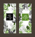 merry christmas greeting banners with new years vector image vector image