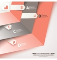 Modern business steb origami style options banner vector image vector image