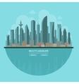 Modern city landscape Flat vector image vector image