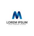 modern letter m 3d logo design concept template vector image vector image