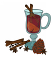 Mulled wine Vecrot vector image