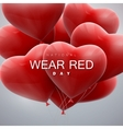 National wear red day vector image vector image