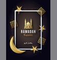 ramadan kareem festive poster bright greeting vector image vector image
