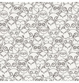 Random owls seamless pattern Cute nignht birds For vector image