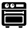 retro stove icon simple style vector image vector image