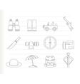 safari and hunting icons vector image vector image