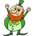 saint patrick leprechaun cartoon vector image vector image