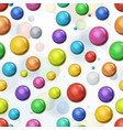 seamless multicolored balls background vector image vector image