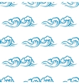 Seamless pattern of cresting ocean waves vector image vector image