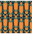 Seamless pattern with the image of longboard vector image vector image