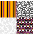 set four texture cute and colorful vector image vector image