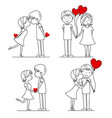 set of couple in love vector image vector image