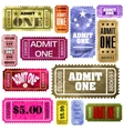 Set of vintage and modern ticket admit one eps 8 vector | Price: 1 Credit (USD $1)