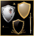 Shield - set vector | Price: 1 Credit (USD $1)