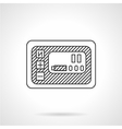 Smart panel line icon vector image vector image