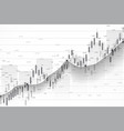 stock market and exchange business candle stick vector image vector image