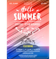 Summer Beach Party Flyer or Poster Summer Night vector image vector image